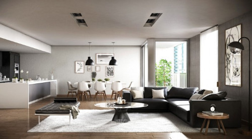 Interior modern living room - Interior Rendering