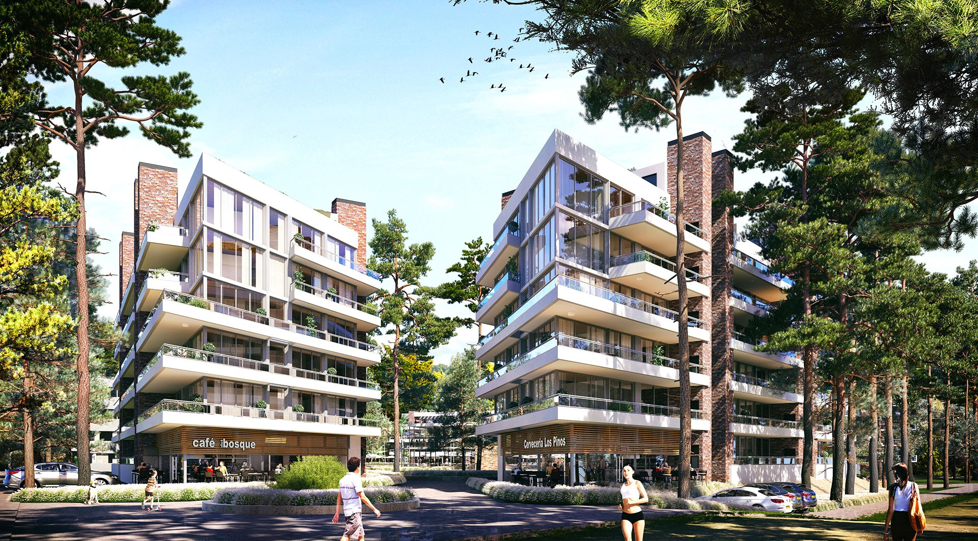 Apartment building - Exterior Rendering