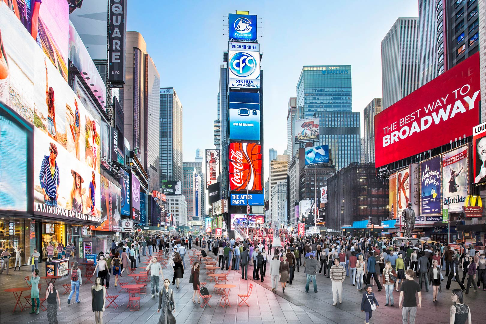 Time square remodelation - Pedestrian Rendering
