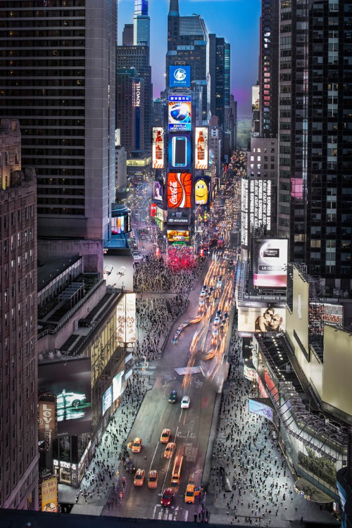 Remodeling in Time square - Aerial View