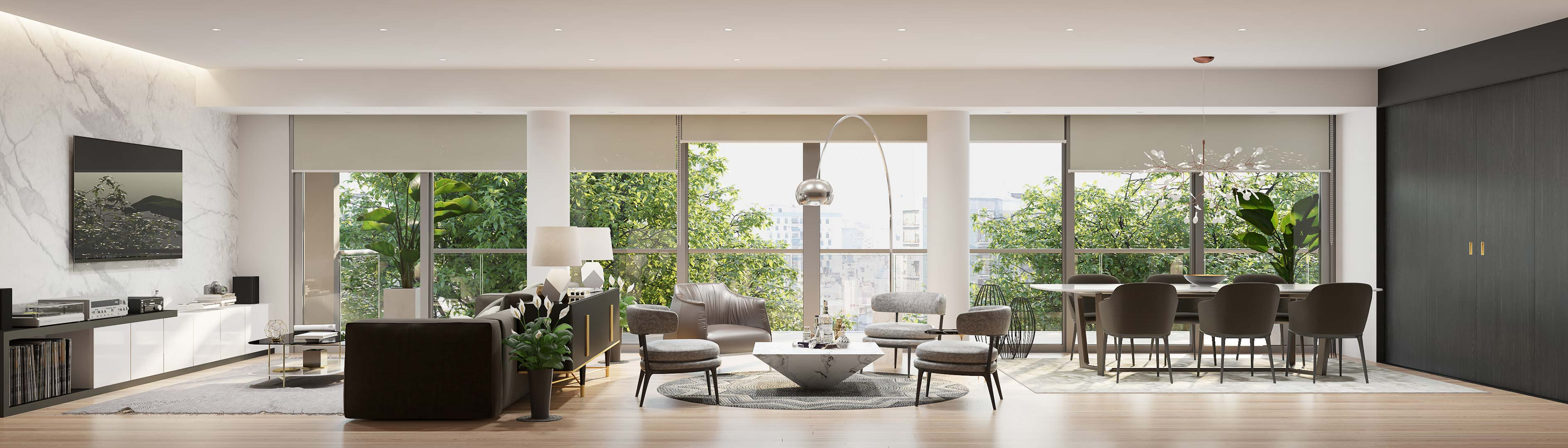 Apartment living room - 3D rendering