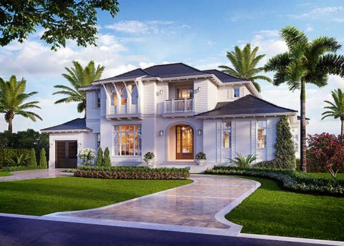 Banyan Cay Style Residence - 3D Rendering